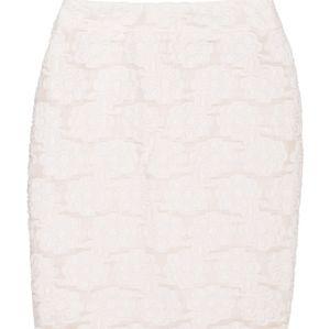 Ivory Chanel knee-length skirt